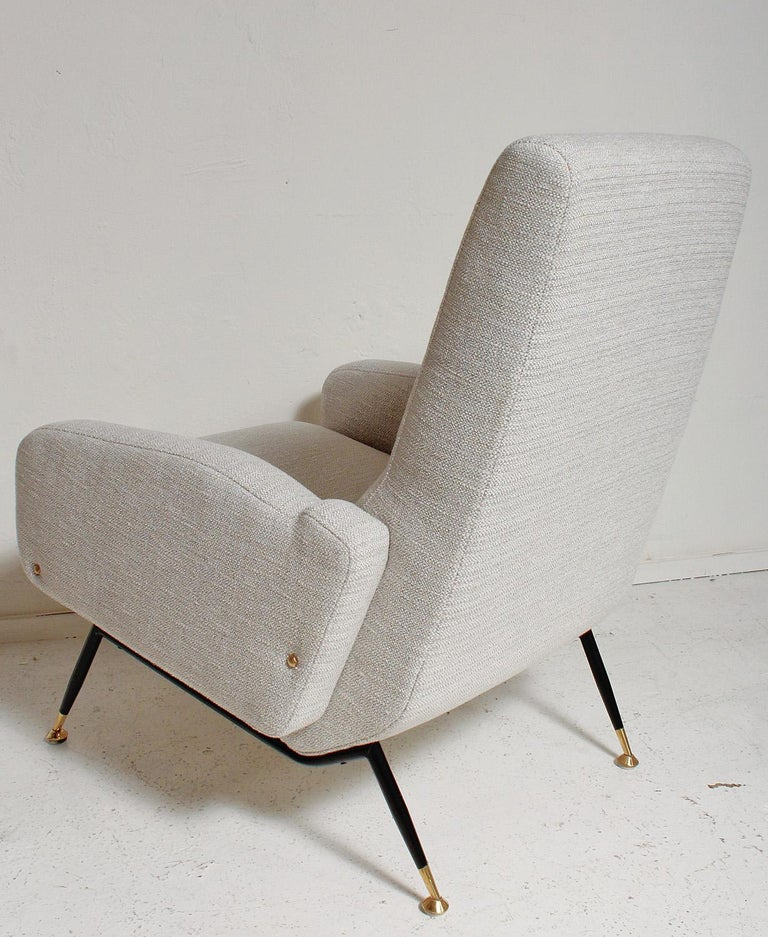 Pair of 1950s Gigi Radice Lounge Chairs, Fully Restored For Sale 1