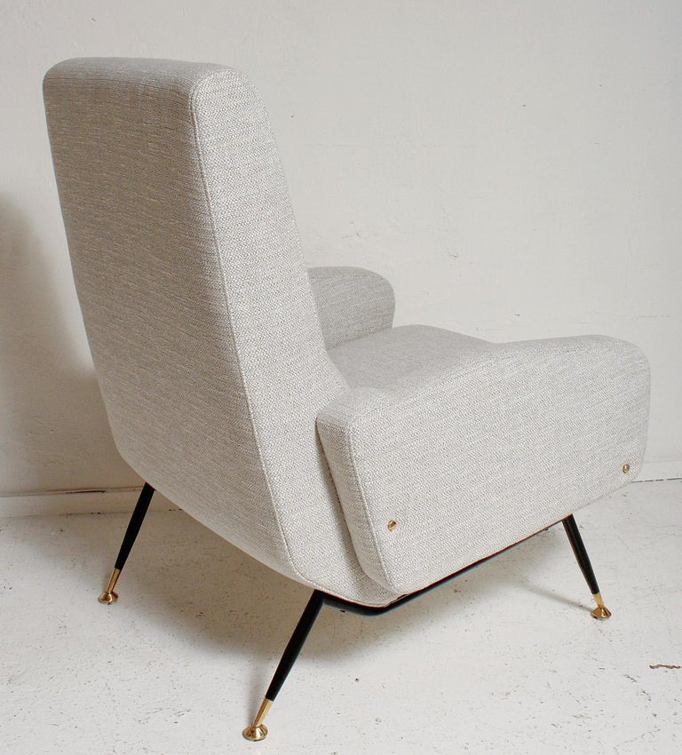Pair of 1950s Gigi Radice Lounge Chairs, Fully Restored For Sale 2