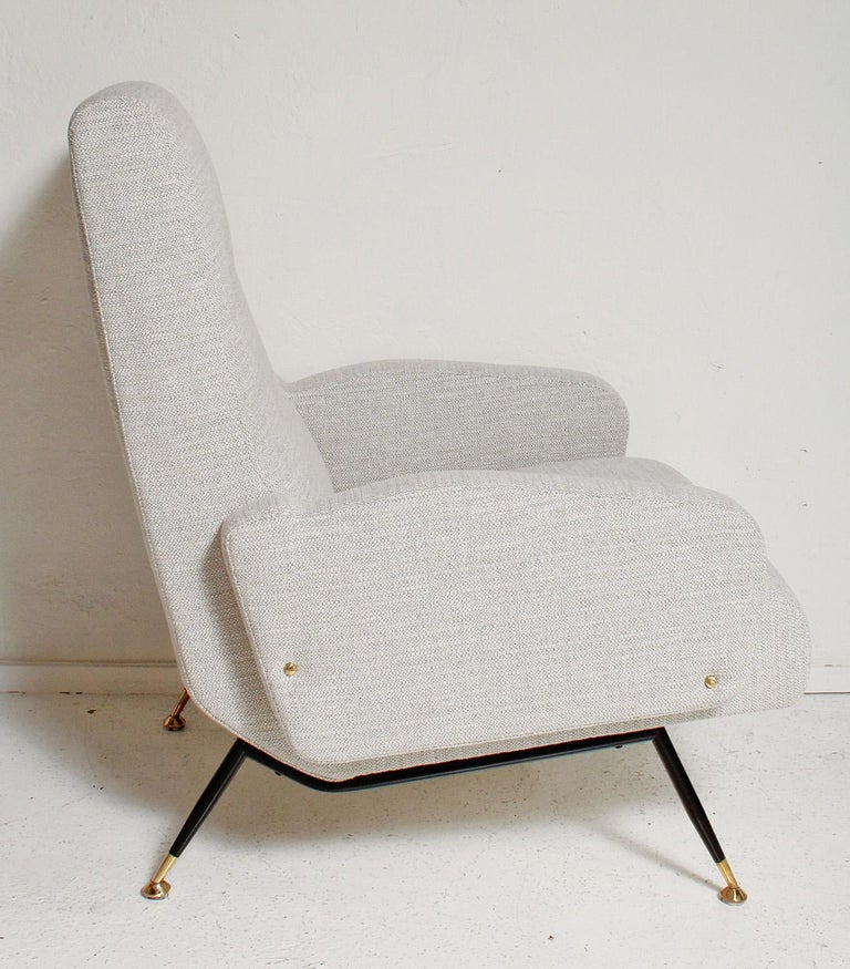 Pair of 1950s Gigi Radice Lounge Chairs, Fully Restored For Sale 3