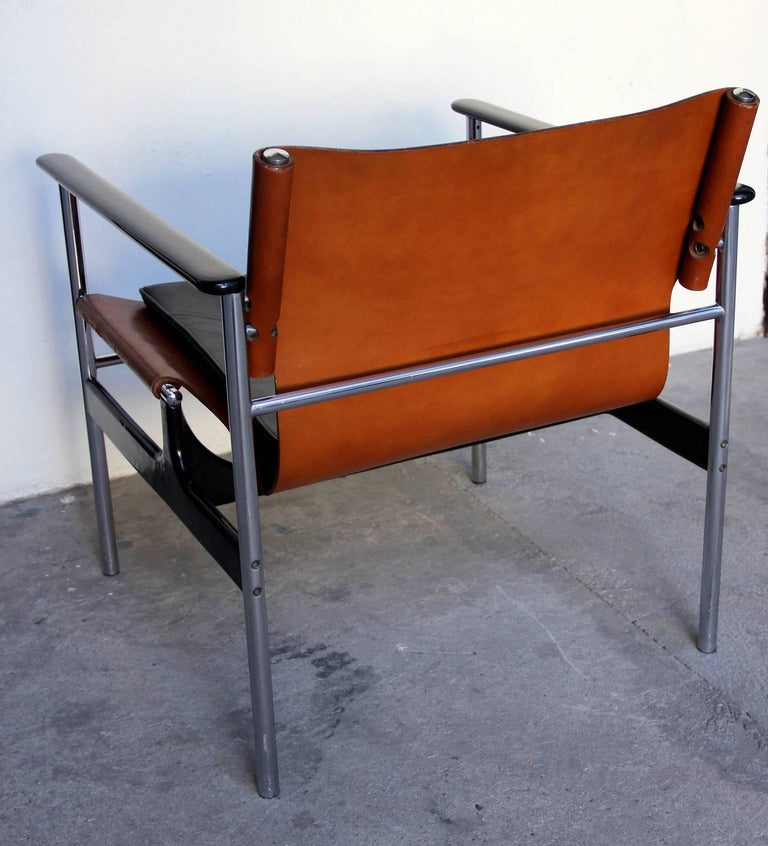 Mid-20th Century Pair of 657 Sling Lounge Chairs by Charles Pollock for Knoll, 1964 For Sale