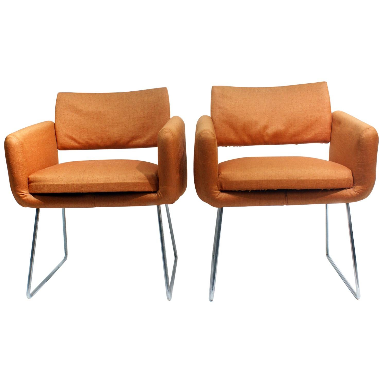 Pair of 760 Chairs by Joseph Andre Motte, France, 1957 for Steiner, Paris