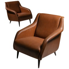 "Pair of ""802"" Armchairs by Carlo De Carli for Cassina"