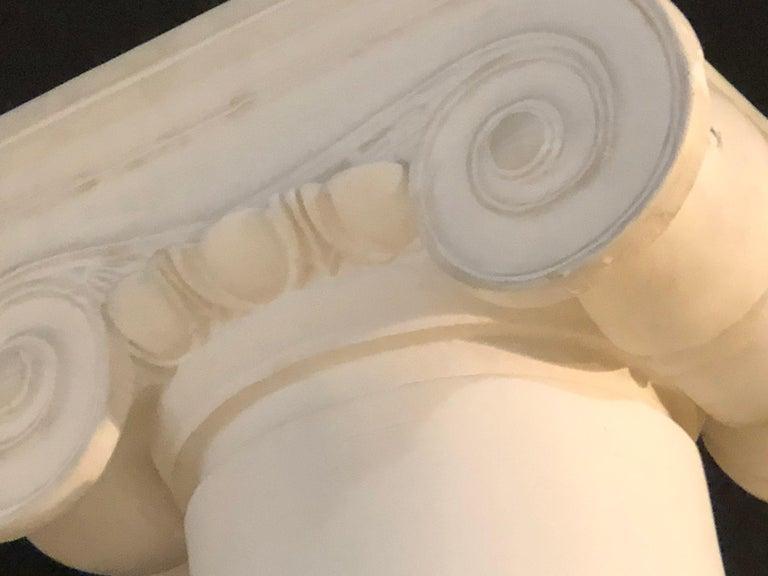 Pair of Columns Having Corinthian Carved Capitals Composite or Fiberglass For Sale 5