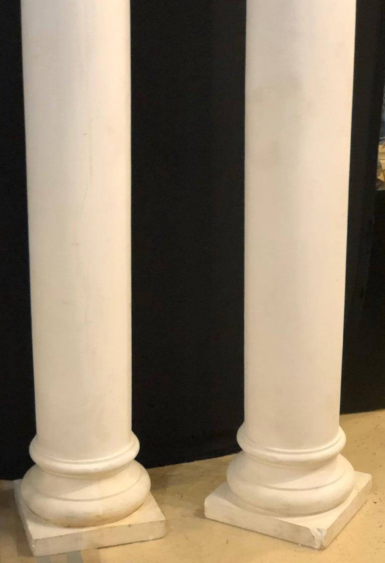 20th Century Pair of Columns Having Corinthian Carved Capitals Composite or Fiberglass For Sale