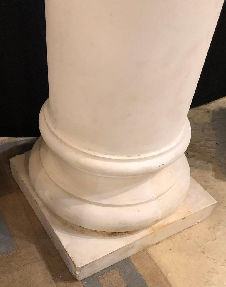 Pair of Columns Having Corinthian Carved Capitals Composite or Fiberglass For Sale 2
