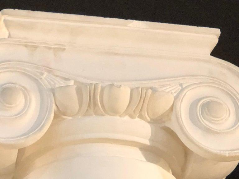 Pair of Columns Having Corinthian Carved Capitals Composite or Fiberglass For Sale 4