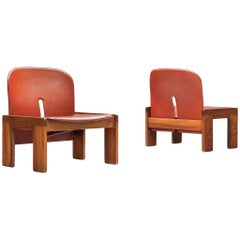 Pair of '925' Easy Chairs by Afra & Tobia Scarpa