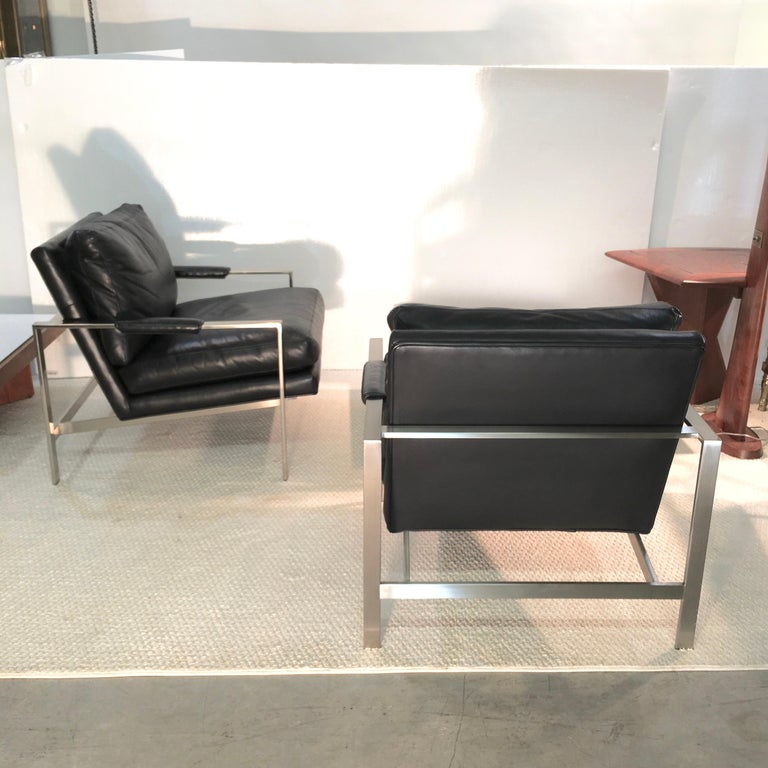 Pair of 951 Lounge Chairs by Milo Baughman for Thayer Coggin For Sale 3