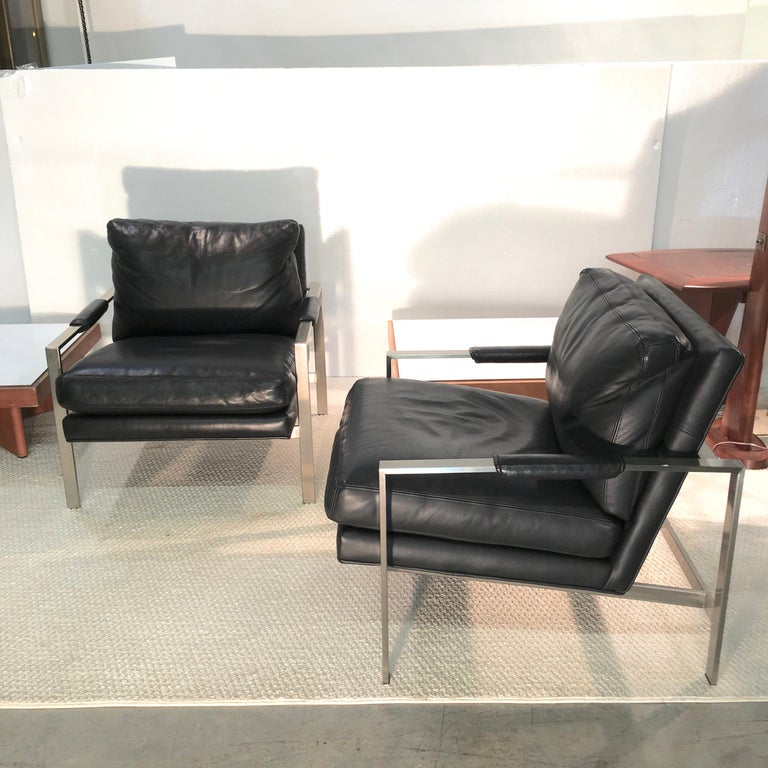 Mid-Century Modern Pair of 951 Lounge Chairs by Milo Baughman for Thayer Coggin For Sale