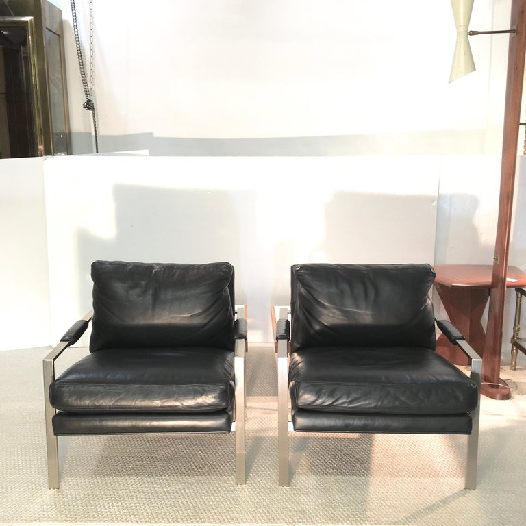 American Pair of 951 Lounge Chairs by Milo Baughman for Thayer Coggin For Sale