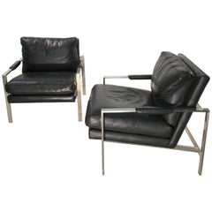 Pair of 951 Lounge Chairs by Milo Baughman for Thayer Coggin