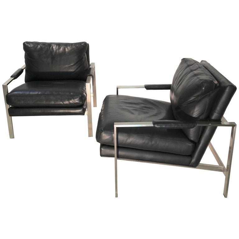 Pair of 951 Lounge Chairs by Milo Baughman for Thayer Coggin For Sale