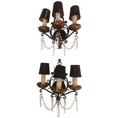 Pair of a Classical Maison Jansen Style Wall Sconces