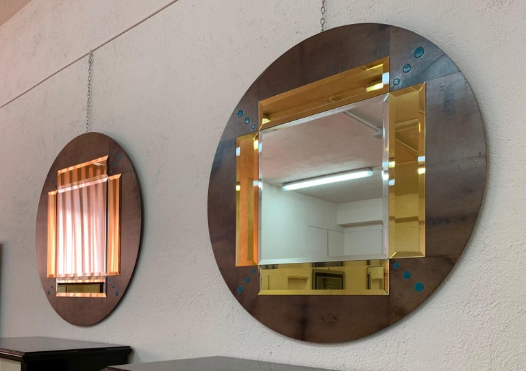 Fine pair of mirrors produced in Italy by master craftsmen.