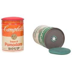 "Pair of A-W ""Campbell's"" Stools by Ufficio Progetti Gavina and Studio Simon"