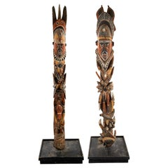Pair of Abelam Maprick Standing Figures, Middle Sepik Region, Papua New Guinea