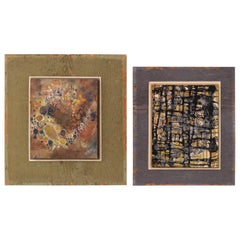 Pair of Abstract Paintings by d'Elaine Johnson, Dated 1970