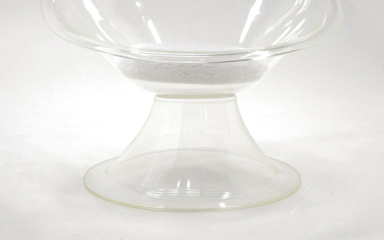 Mid-20th Century Pair of Acrylic or Lucite Lily Chairs by Estelle & Erwin Laverne, White Cushions For Sale