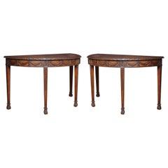 Pair of Adam Revival Mahogany Hall Tables