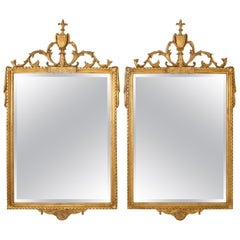 Pair of Adams-Style Giltwood Mirror by Friedman Brothers