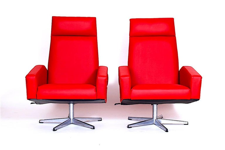 - 1970s, Czechoslovakia - Both renovated (new red eco leather).