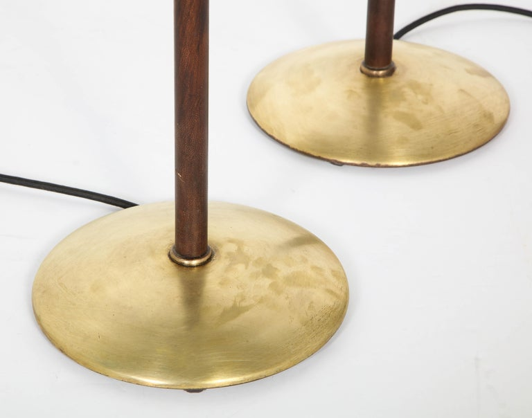 Pair of Adjustable Floor Lamps by Jacques Adnet For Sale 7