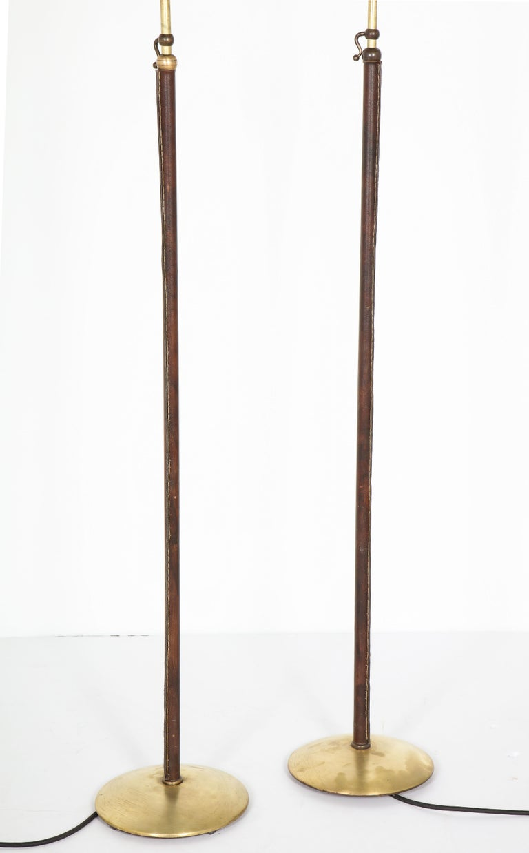 Pair of Adjustable Floor Lamps by Jacques Adnet For Sale 11