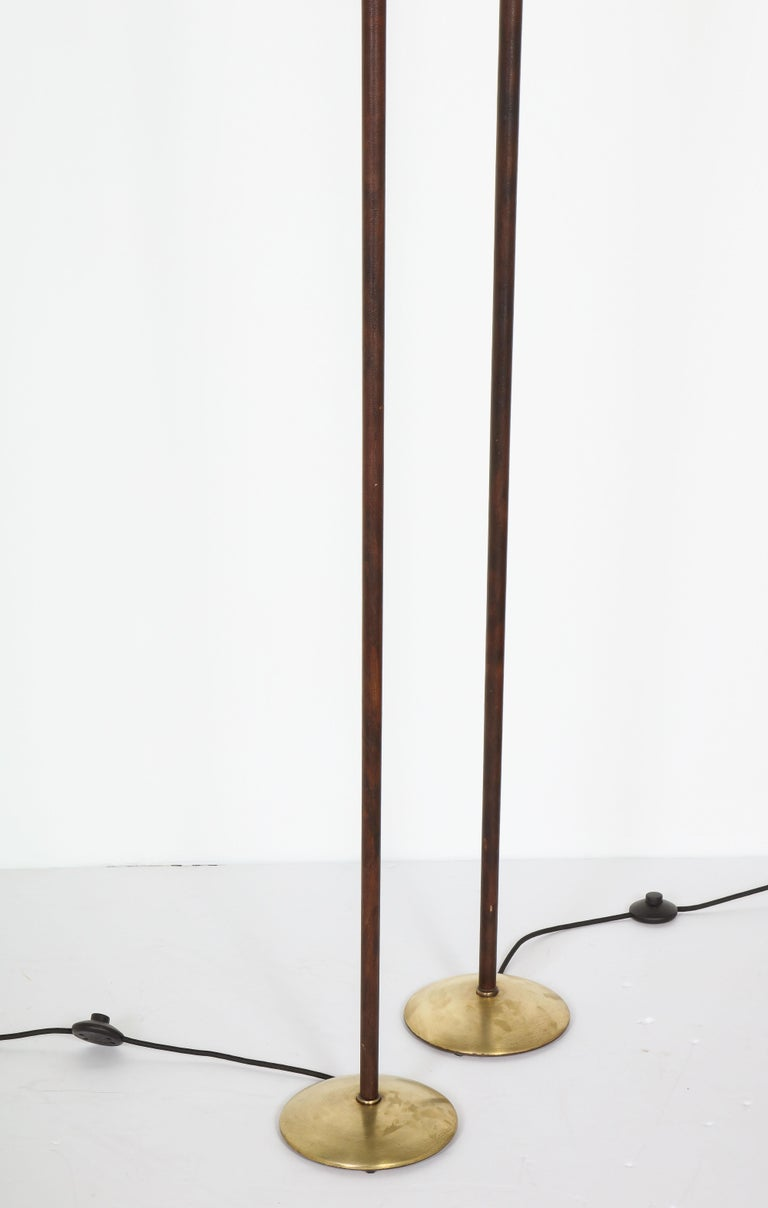 Pair of Adjustable Floor Lamps by Jacques Adnet For Sale 3