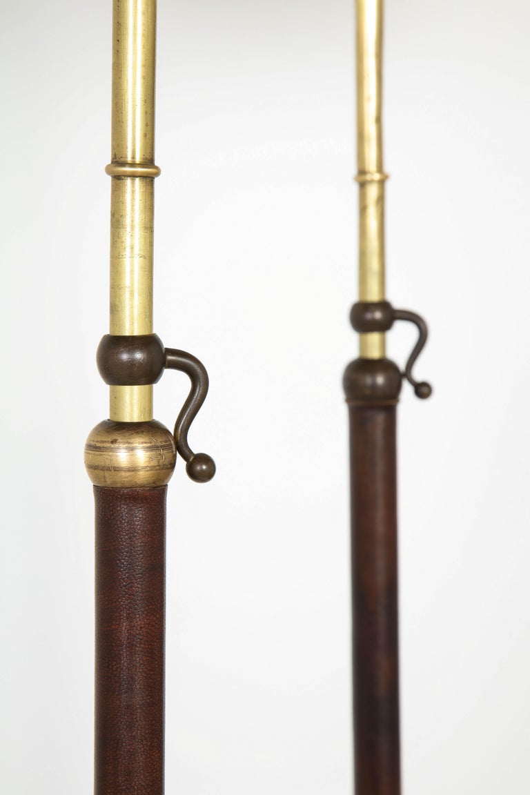 Pair of Adjustable Floor Lamps by Jacques Adnet For Sale 6