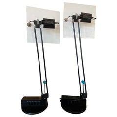 Pair of Adjustable Postmodern Lamps by Sacha Ketoff, 1985