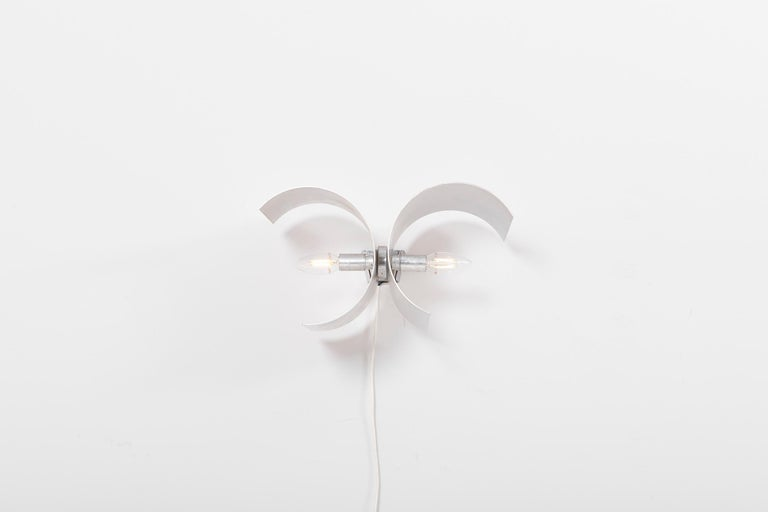 20th Century Pair of Adjustable Wall Lamps in Metal by Nucleo for Sormani, Italy - 1960s For Sale