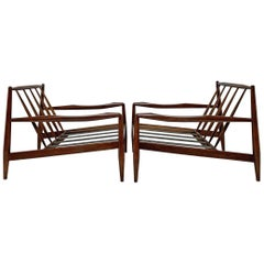 Pair of Adrian Pearsall for Craft Associates Model 834-C Lounge Chairs