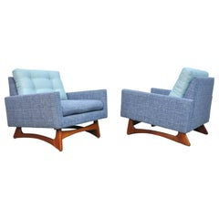 Pair of Adrian Pearsall for Craft Associates Walnut Lounge Chairs