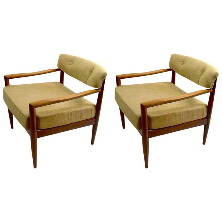 Pair of Adrian Pearsall Lounge Chairs For Sale