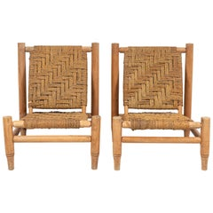 Pair of Adrien Audoux & Frida Minet Rope Chairs
