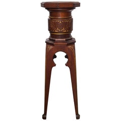 Pair of Aesthetic Movement Revolving Top Pedestals