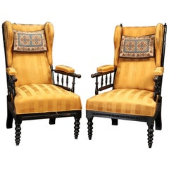 Pair of Aesthetic Wingback Chairs