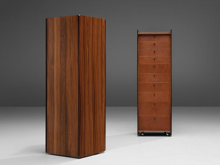 Mid-Century Modern Pair of Afra & Tobia Scarpa 'Artona' Cabinets For Sale