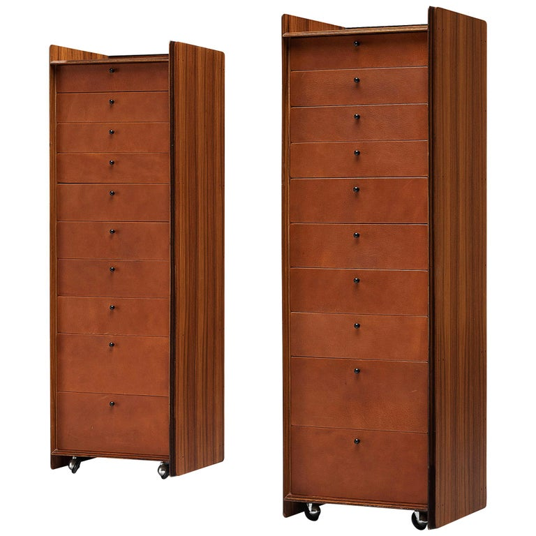 Pair of Afra & Tobia Scarpa 'Artona' Cabinets For Sale