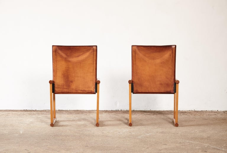 20th Century Pair of Afra & Tobia Scarpa Dining Chairs for Molteni, Italy, 1970s For Sale