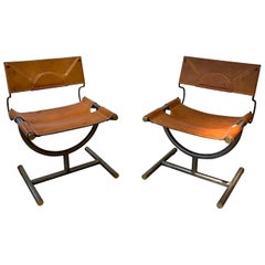 Pair of Afra & Tobia Scarpa Side Chairs, circa 1985