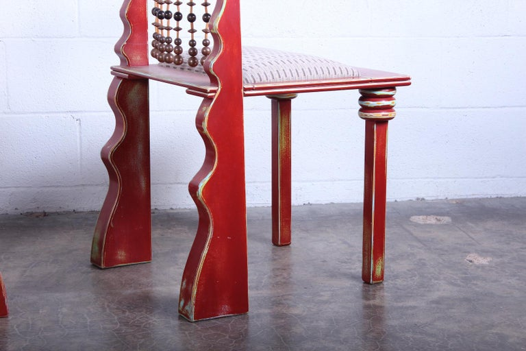 Pair of African Chairs by Garry Knox Bennett, 1989 For Sale 6