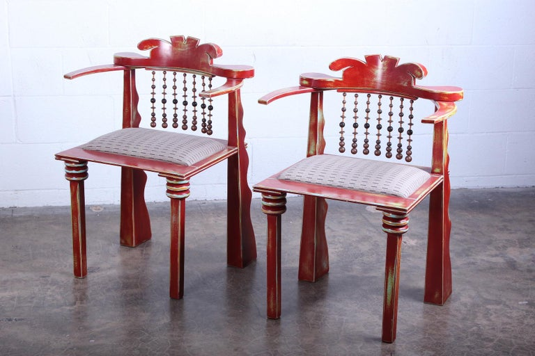 Pair of African Chairs by Garry Knox Bennett, 1989 For Sale 7