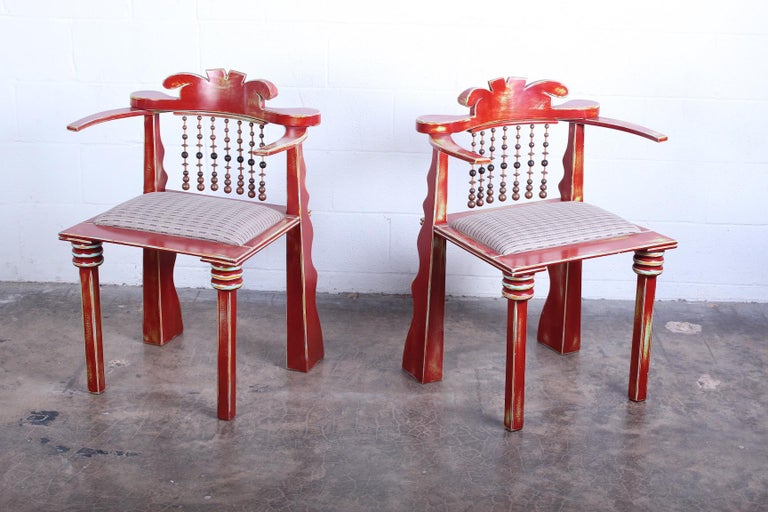 Pair of African Chairs by Garry Knox Bennett, 1989 In Good Condition For Sale In Dallas, TX