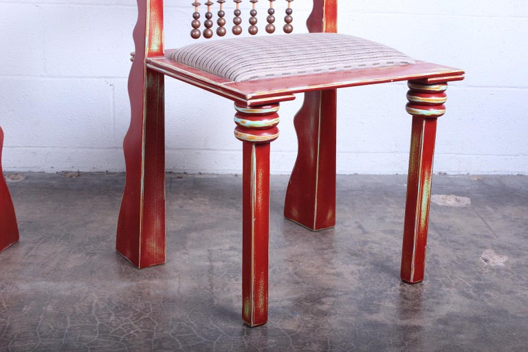 Lacquer Pair of African Chairs by Garry Knox Bennett, 1989 For Sale