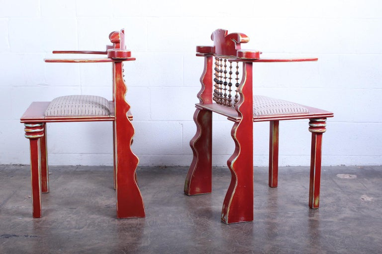 Pair of African Chairs by Garry Knox Bennett, 1989 For Sale 4