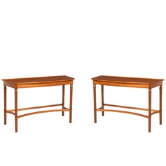 Pair of African Mahogany Side Tables by Edward Barnsley, England, circa 1956