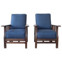 Pair of African Wenge Wood Deck Chairs, France, 1940s. Two Sets Available.