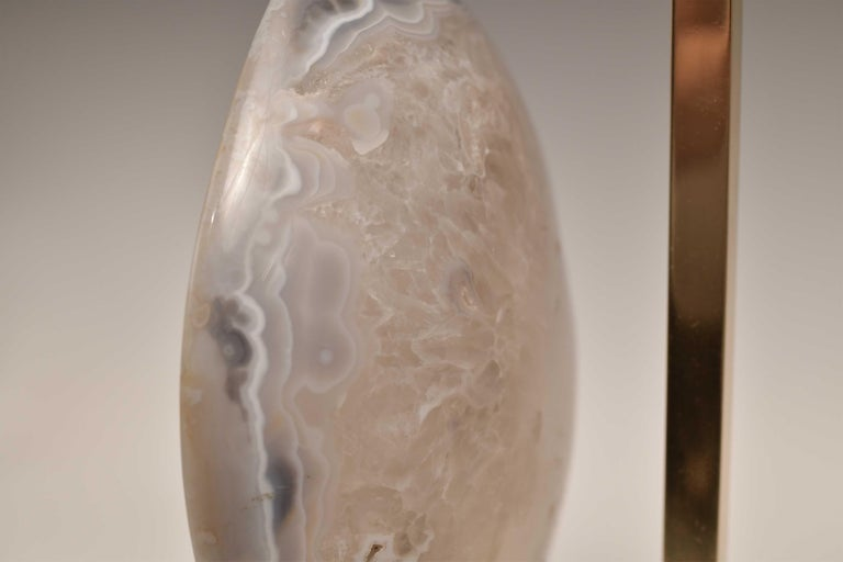 Contemporary Pair of Agate Lamps by Phoenix For Sale