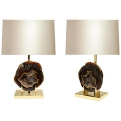 Pair of Agate Lamps by Phoenix